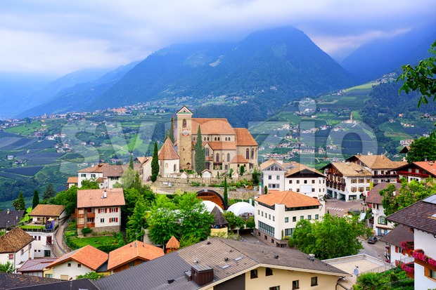 Schenna in the Alps mountains, Meran, South Tyrol, Italy Stock Photo
