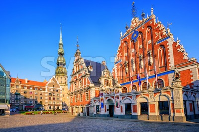 Blackheads house in the old town of Riga, Latvia Stock Photo