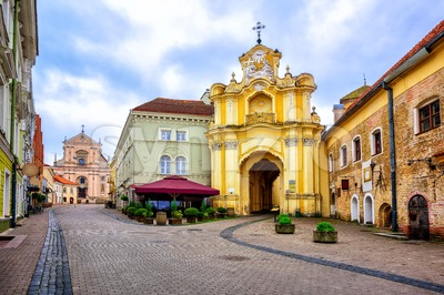 Old town of Vilnius, Lithuania Stock Photo