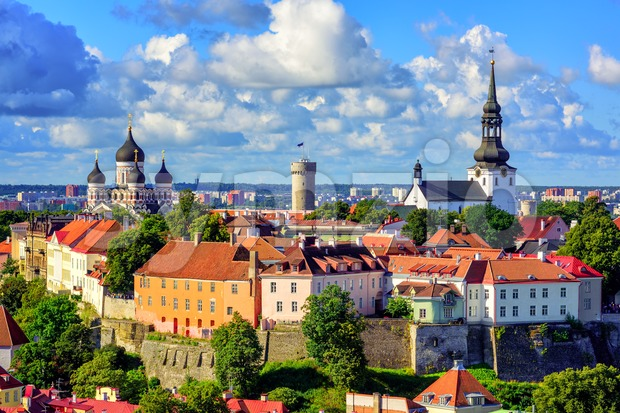 Medieval old town of Tallinn, Estonia Stock Photo