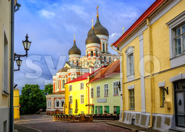 Alexander Nevsky Cathedral, Tallinn Old Town, Estonia Stock Photo
