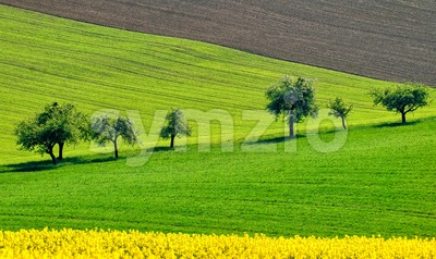 Colorful countryside landscape in Bavaria, Germany Stock Photo