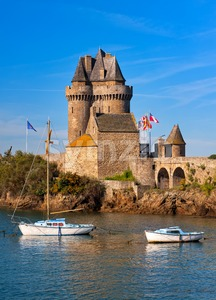 Solidor Tower, Saint-Malo, Brittany, France Stock Photo
