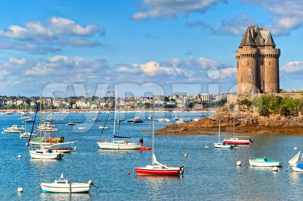 Solidor Tower, Saint Malo, Brittany, France Stock Photo