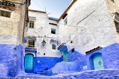Medina of the blue town Chefchaouen, Morocco Stock Photo