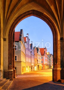 Old gothic town Landshut, Bavaria, Germany Stock Photo