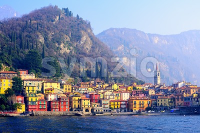Varenna town on Lake Como, Lombardy, Italy Stock Photo