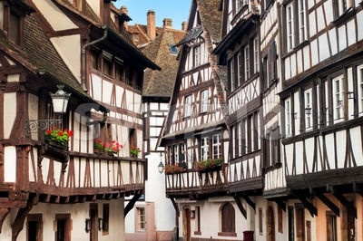Traditional half-timbered houses in the old town of Strasbourg, Alsace, France Stock Photo