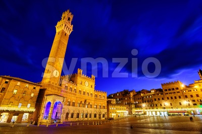 Piazza del Campo in the old town Siena, Tuscany, Italy Stock Photo