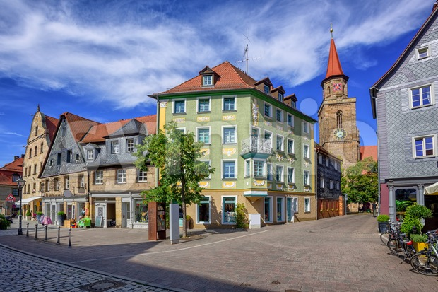Old town of Furth, Bavaria, Germany Stock Photo