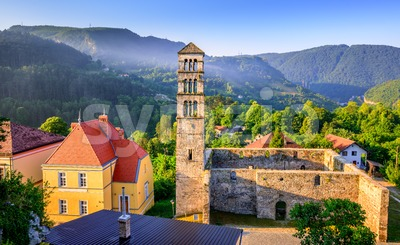 St Mary Church in Jajce, Bosnia and Herzegovina Stock Photo