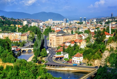 Sarajevo city, capital of Bosnia and Herzegovina Stock Photo
