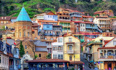 The Old Town of Tbilisi, Georgia Stock Photo