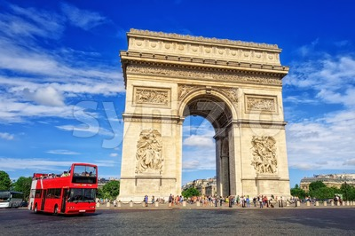 The Triumphal Arch, Paris, France Stock Photo