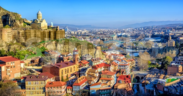 Tbilisi Old Town, Georgria Stock Photo