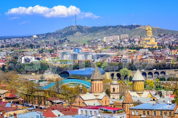 Tbilisi, capital city of Georgia Stock Photo