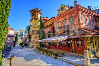 Old town of Tbilisi, Georgia Stock Photo