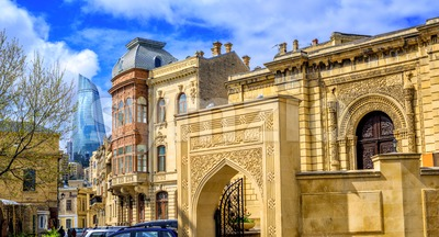 Baku Old Town, Azerbaijan Stock Photo