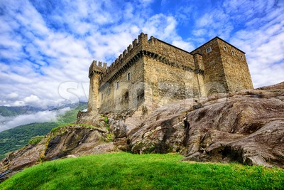 Castel Sasso Corbaro, Bellinzona, Switzerland Stock Photo