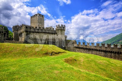 Castello di Montebello, Bellinzona, Switzerland Stock Photo