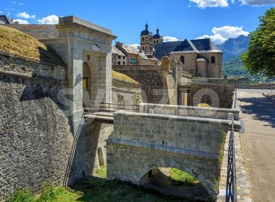 The Walls of the Citadel of Briancon, France Stock Photo