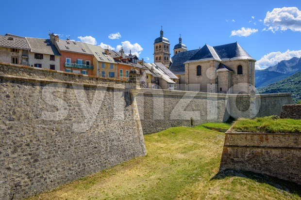 The Walls and the Old Town of Briancon, France Stock Photo