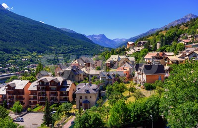 Briancon town in Alpes mountains, Provence, France Stock Photo
