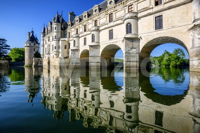 Chenonceau Castle in Loire Valley, France Stock Photo