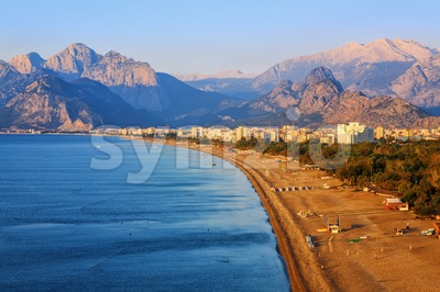 Antalya, Konyaalti sand beach, Turkey Stock Photo