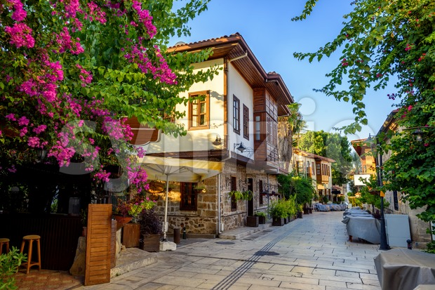 Pedestrian street in Antalya Old Town, Turkey Stock Photo