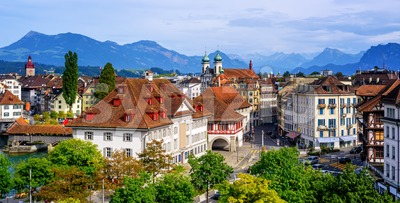 Old Town of Lucerne, Switzerland Stock Photo