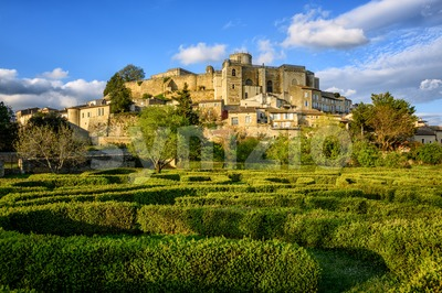 Grignan Old Town and Castle, Drome, France Stock Photo