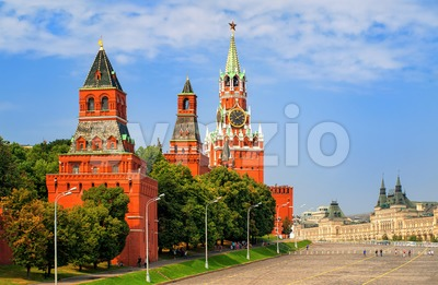 Red square and Kremlin towers, Moscow, Russia Stock Photo