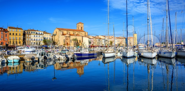 La Ciotat, Old Town and port, Provence, France Stock Photo
