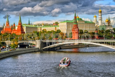 Moscow Kremlin, Russian Federation Stock Photo