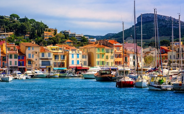Cassis resort town, Provence, France Stock Photo