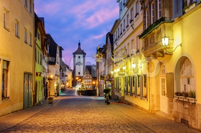 Rothenburg ob der Tauber Old Town, Germany Stock Photo