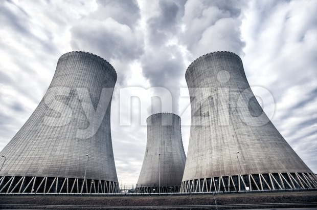 Nuclear power plant in Temelin, Czech Republic, Europe Stock Photo