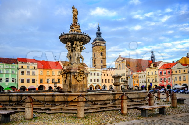 Ceske Budejovice Old Town, Budvar, Czech Republic Stock Photo
