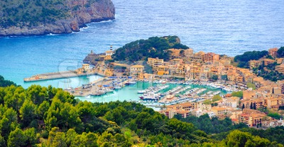 Port de Soller, Mallorca island, Spain Stock Photo