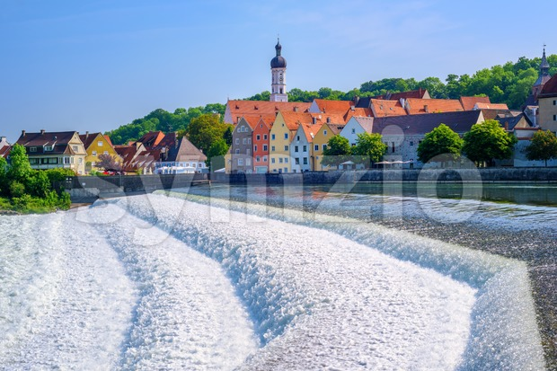 Historical Old Town of Landsberg am Lech, Bavaria, Germany Stock Photo