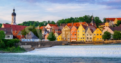Landsberg am Lech gothic Old Town, Germany Stock Photo