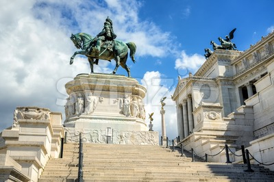 Monument of Vittorio Emanuele II, Rome, Italy Stock Photo