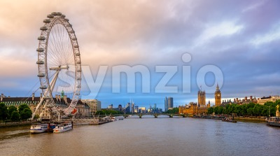 Panoramic view of London city, England, United Kingdom, on sunrise Stock Photo