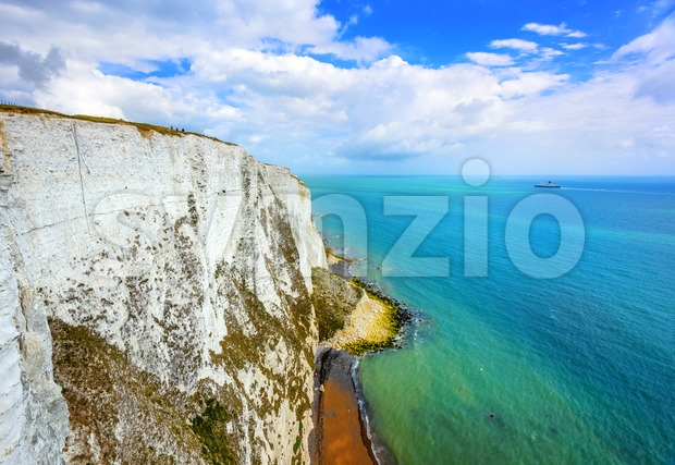 White cliffs of Dover, English Channel, England Stock Photo