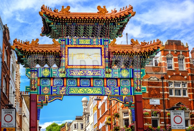 London China Town entrance gate, England Stock Photo