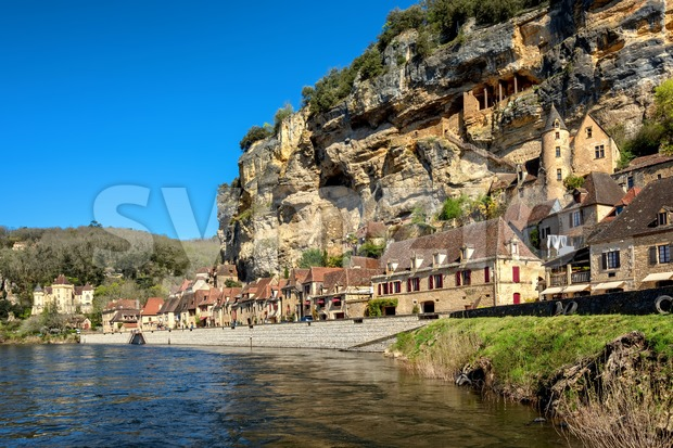 La Roque-Gageac Old Town, France Stock Photo