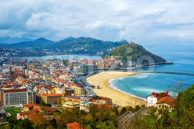 San Sebastian - Donostia city, Basque country, Spain Stock Photo