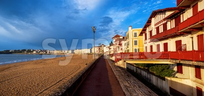 St Jean de Luz, sea side sand beach, France Stock Photo