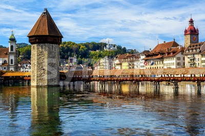 Historical Lucerne Old Town, Switzerland Stock Photo